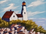 Art Night Out - Paint Portland Headlight Step-by-step