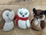 Needle Felt a Snowy Owl: Live Online