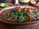Carne en su jugo - literally means beef in its own juices.