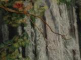 303F17 Waterfall - Oriental Cotton Paper Art