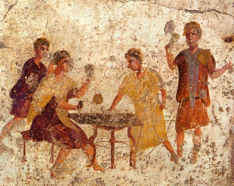 Original source: https://upload.wikimedia.org/wikipedia/commons/1/16/Pompeii_-_Osteria_della_Via_di_Mercurio_-_Dice_Players.jpg