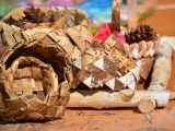 Plaited Birch Bark Baskets