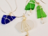 Art Night Out - Wire Bound Seaglass Necklace & Earrings (Session II)