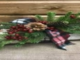 Holiday Log Centerpiece