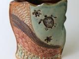 Hand – Built Spring Flower Vase