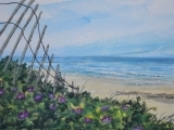 Watercolor Painting - Summer Breeze at the Beach!