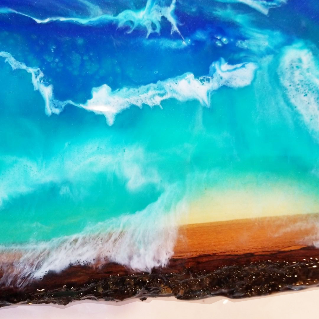 Live Edge Resin Ocean Painting - Spring 2019