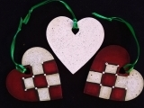 Painted Scandinavian Heart Ornaments - Live Online