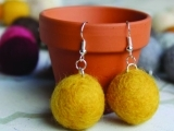 Fabulous Felted Ball Jewelry Set
