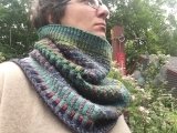 My First Stranded Colorwork Cowl or Inspira Cowl