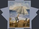 "EW-08-20 Acrylic Painting ""Sea, Sun and Me"""